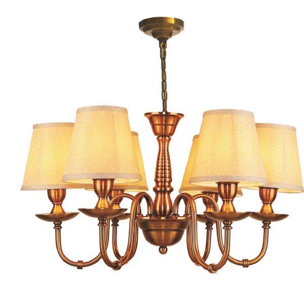 Enedina 6 - Light Shaded Classic / Traditional Chandelier by Astoria Grand Astoria Grand