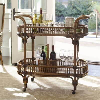 Tommy Bahama Hai Bar Cart Serving Carts