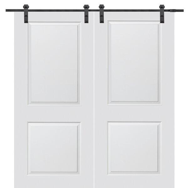 Carrara Solid MDF Panelled Slab Interior Barn Door by Verona Home Design