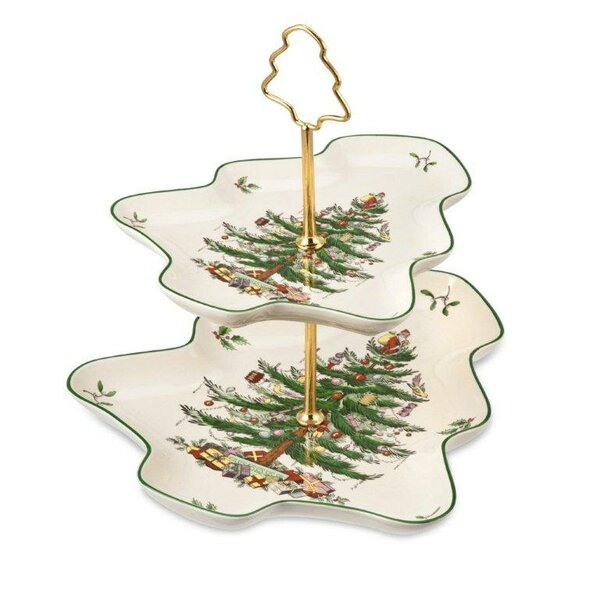 Christmas Tree Serve Sculpted Server by Spode