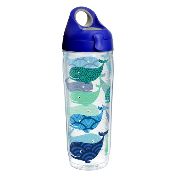 Sun and Surf Whales Water Bottle 24 oz. Plastic by Tervis Tumbler