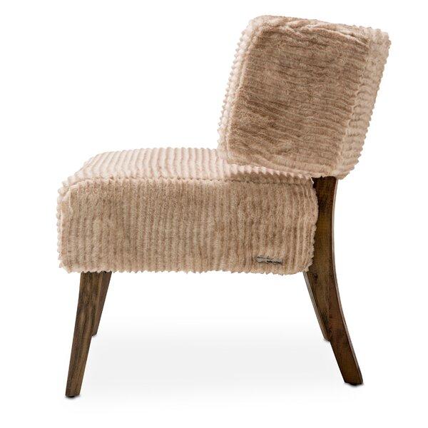 Half Moon Slipper Chair By Michael Amini
