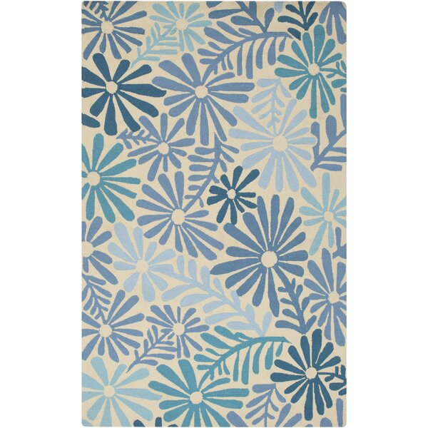 Aura Beige/Blue Indoor/Outdoor Area Rug by KD Spain