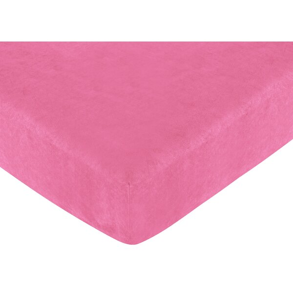 Cheetah Pink Fitted Crib Sheet by Sweet Jojo Designs