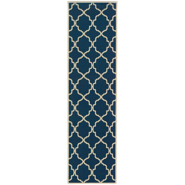 Alford Blue/Ivory Indoor/Outdoor Area Rug by Andover Mills