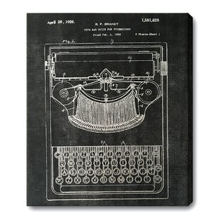Typewriter Graphic Art on Wrapped Canvas by Trent Austin Design