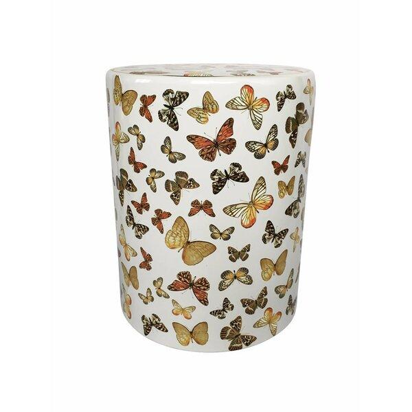 Fred Fancy Butterfly Garden Stool by Astoria Grand