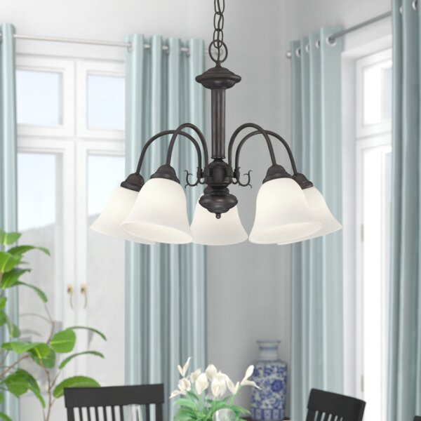 Turcotte 5 - Light Shaded Classic / Traditional Chandelier by Charlton Home Charlton Home