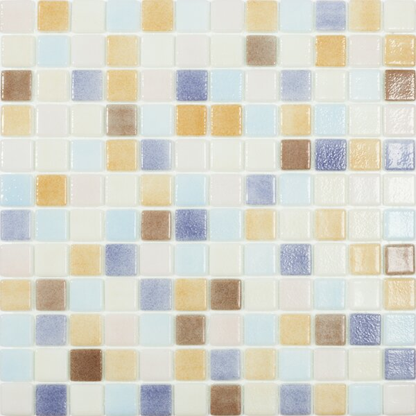 Beach Pastel 1 x 1 Glass Mosaic Tile by Kellani