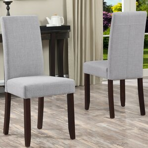 acadian upholstered dining chair set of 2