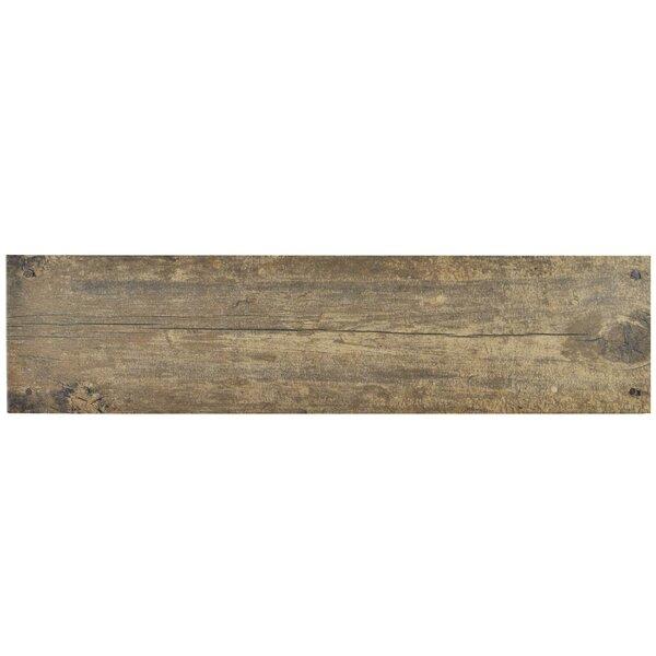 Chalet 5.88 X 23.63 Ceramic Wood Look/Field Tile in Brown by EliteTile