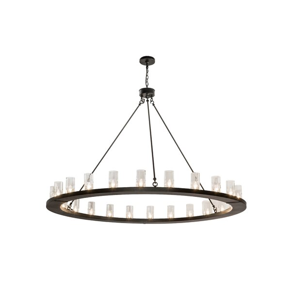 Hardt 24 - Light Shaded Wagon Wheel Chandelier By 17 Stories
