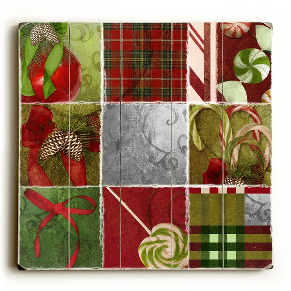 Mints and Acorns Squares Graphic Art Plaque by The Holiday Aisle