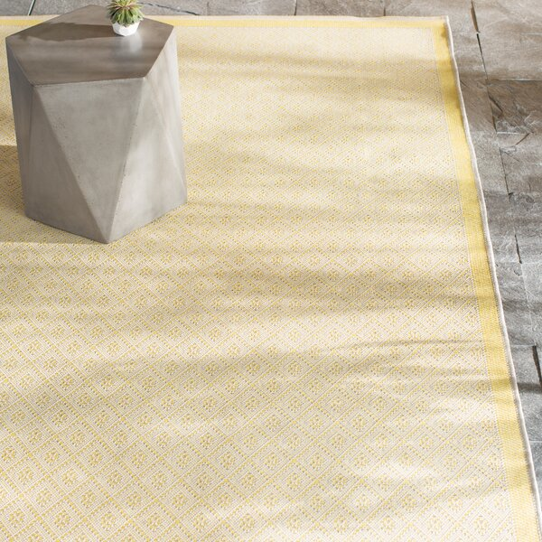 Shackelford Yellow Indoor/Outdoor Area Rug by Mercury Row