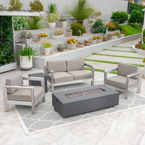 Waynoka 5 Piece Sofa Seating Group with Cushions by Orren Ellis