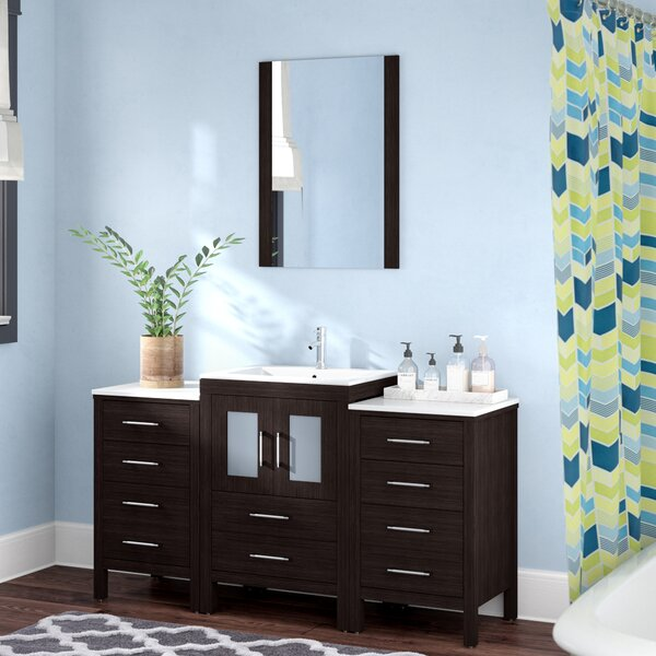 Cartagena 60 Single Bathroom Vanity Set with Mirror by Mercury Row