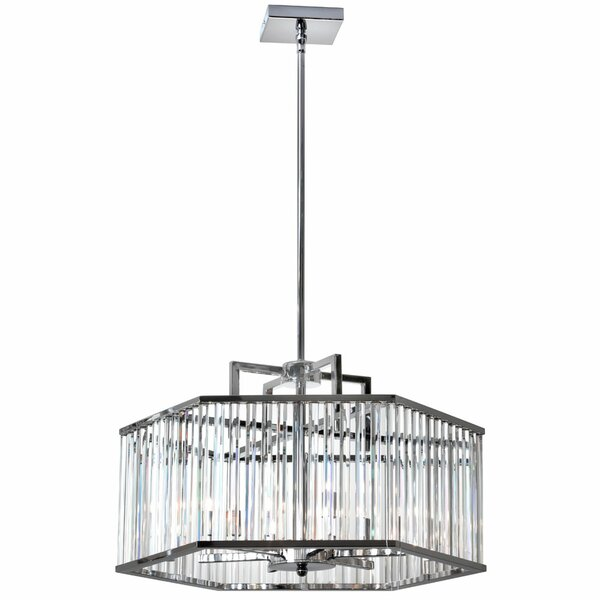 Lefferts 6 - Light Shaded Drum Chandelier By Willa Arlo Interiors