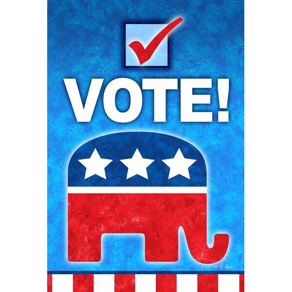 Vote Republican 2-Sided Garden flag by Toland Home Garden