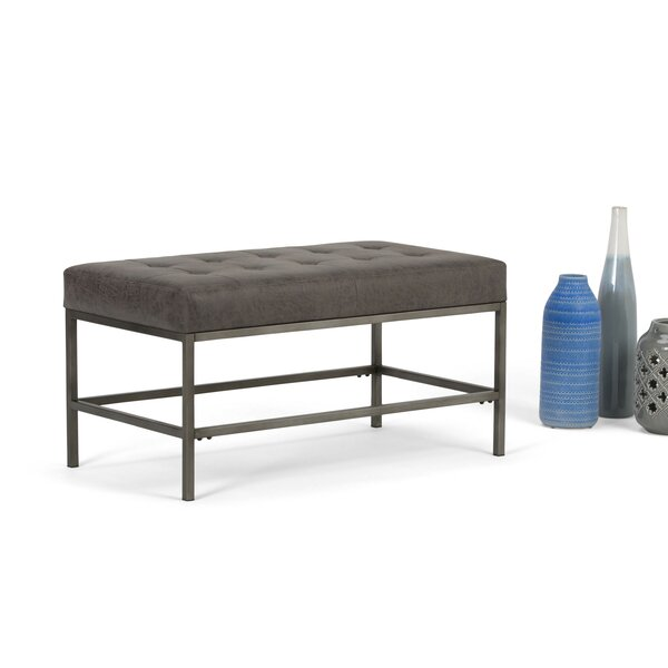 Spurling Faux Leather Bench by Trent Austin Design