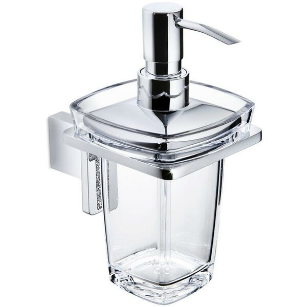 Pepperdine Wall Acrylic Pump Soap & Lotion Dispenser by Rosdorf Park