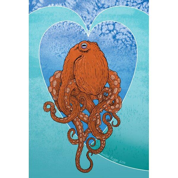 Aquatic Octopus Garden flag by Toland Home Garden