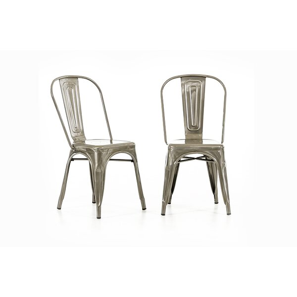 Sheree Silver Metal Side Chair (Set of 2) by 17 Stories