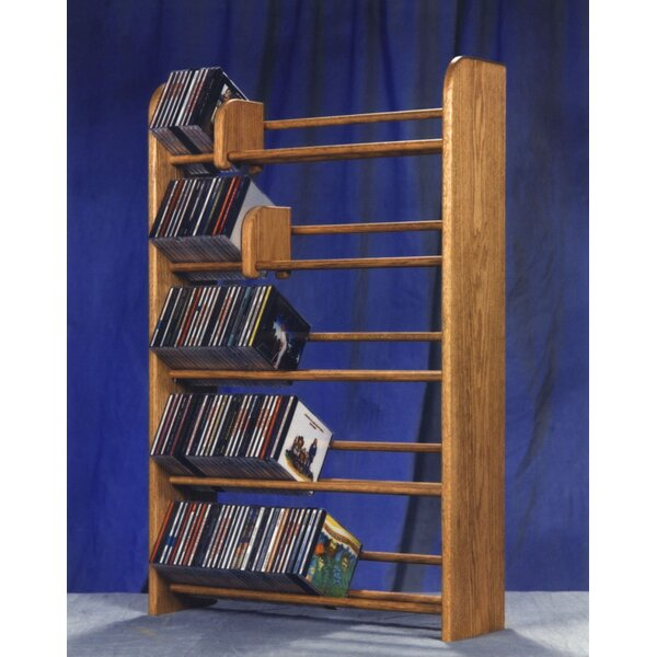 500 Series 275 CD Multimedia Storage Rack by Wood