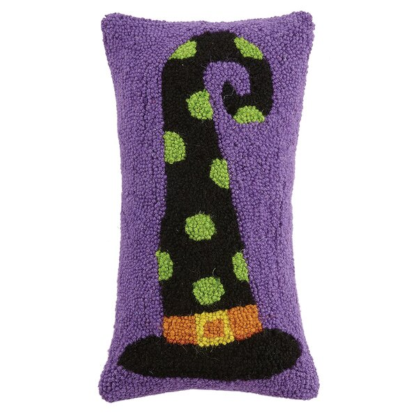 Mckinzie Fancy Witch Hat Hook Wool Lumbar Pillow by The Holiday Aisle
