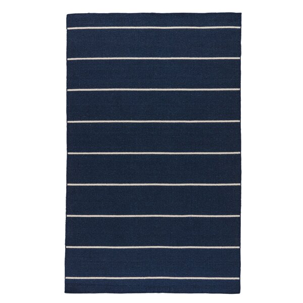 Rogan Flat-Woven Wool Blue/Ivory Area Rug by Birch Lane™