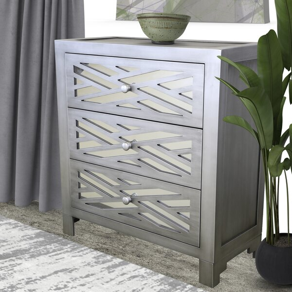 Rosanna Lattice 3 Drawer Accent Chest by Brayden Studio