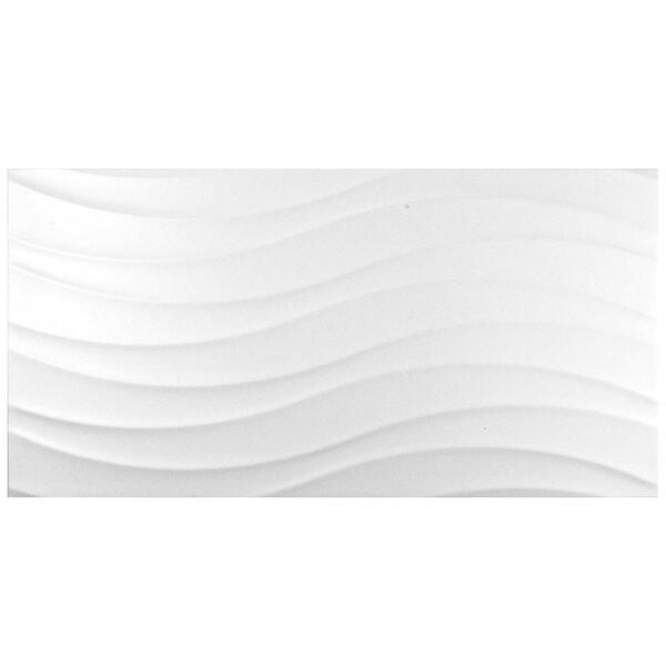 Silhouette 12.38 x 24.88 Ceramic Field Tile in White by EliteTile