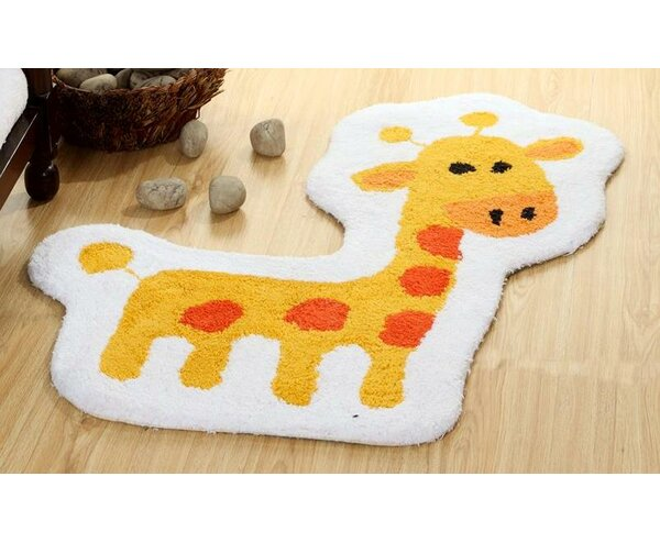 Dunecrest Giraffe Vibrant Children Bath Rug by Harriet Bee