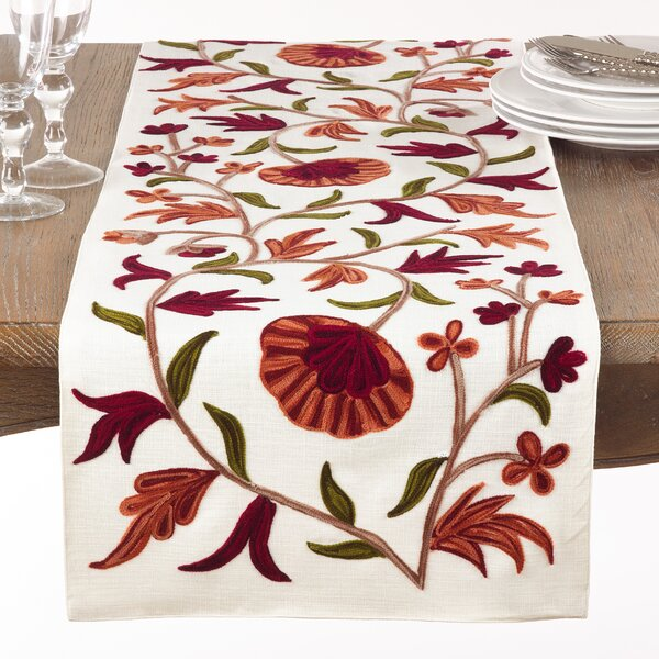 Lindenhurst Embroidered Table Runner by Darby Home Co