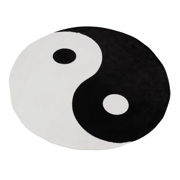 Lassen Ying Yang Fleece Throw by World Menagerie