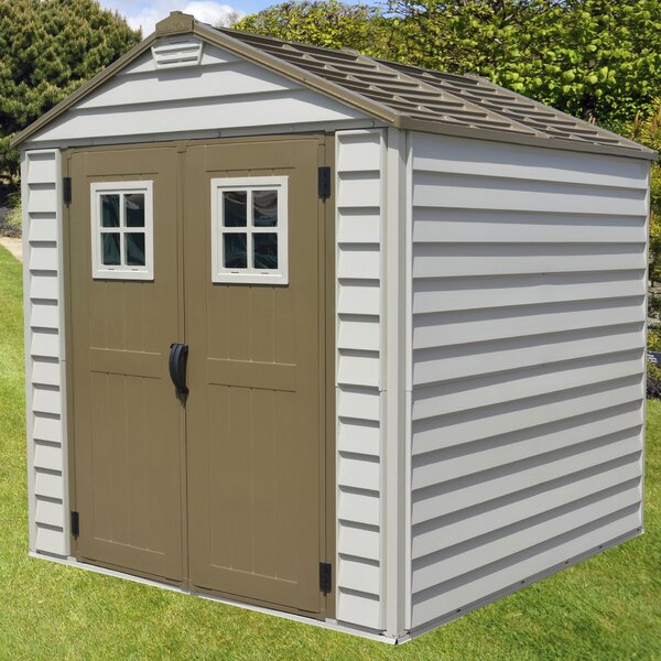 StoreMax 6 ft. 9 in. W x 6 ft. 10 in. D Plastic Storage Shed by Duramax Building Products