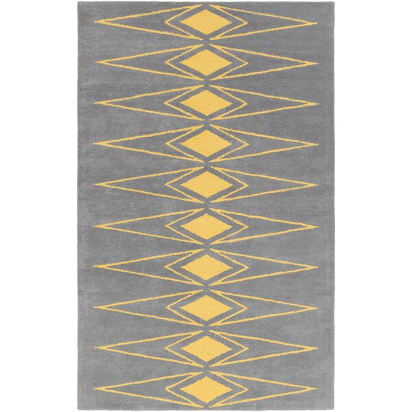 Hand-Tufted Gray/Yellow Area Rug by Bobby Berk Home