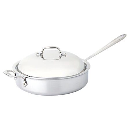 D3 4 Qt. Saute Pan with Domed Lid by All-Clad