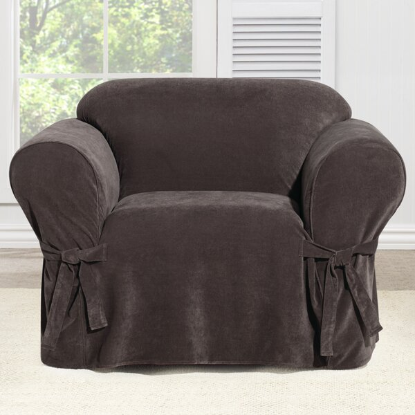 Everyday Chenille Box Cushion Armchair Slipcover b