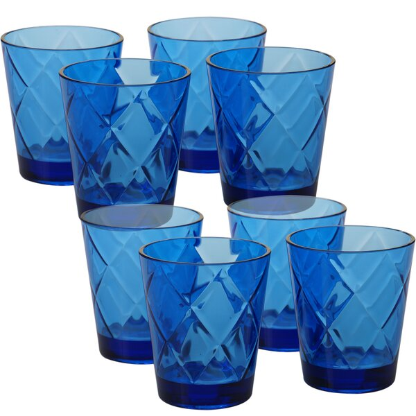 Diamond Acrylic 15 Oz. Old Fashioned Glasses (Set of 8) by Certified International