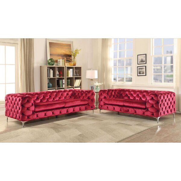 Shade 2 Piece Living Room Set by Everly Quinn