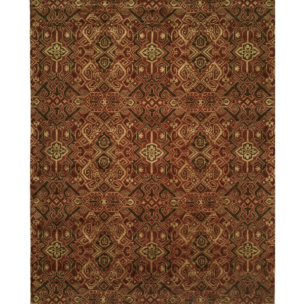 Hand-Woven Brown/Red Area Rug by Wildon Home ®