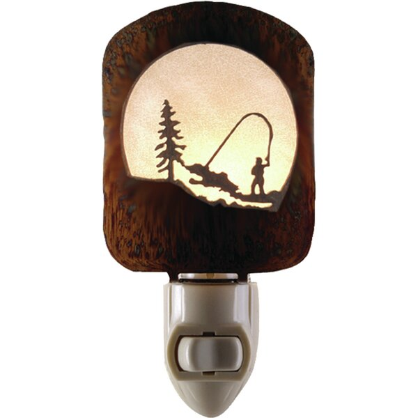 Fly Fishing Scene Night Light by Lazart