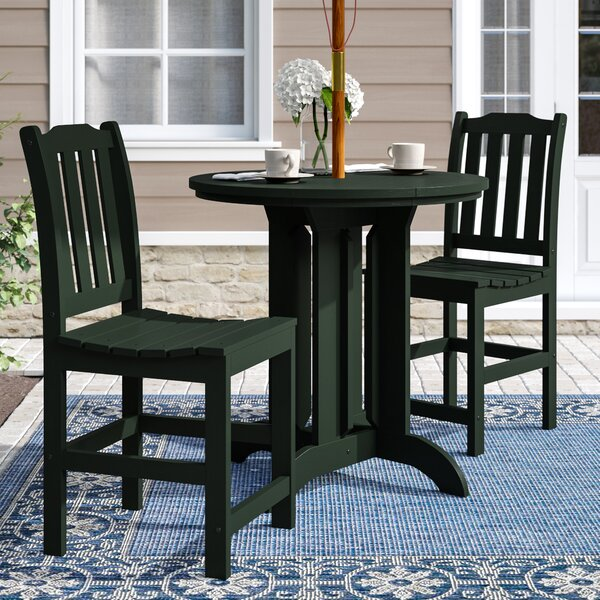 Hinton Charterhouse 3 Piece Counter Height Dining Set by Three Posts
