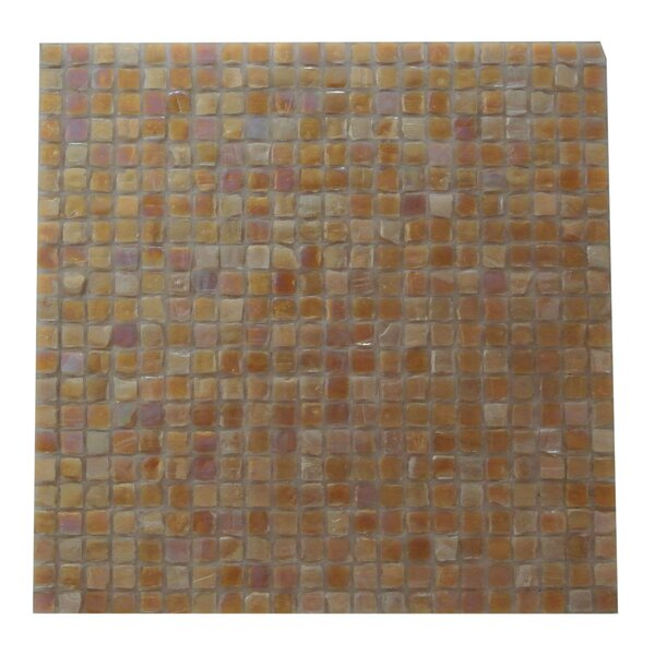 Ecologic 0.38 x 0.38 Glass Mosaic Tile in Carmel by Abolos