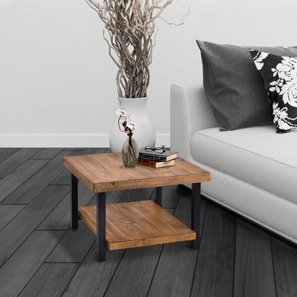 Capehart Hillside Natural with Storage Shelf Coffee Table by Foundry Select Foundry Select