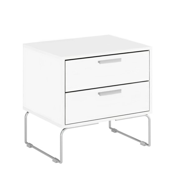 Bourn 2 Drawer Nightstand by Orren Ellis