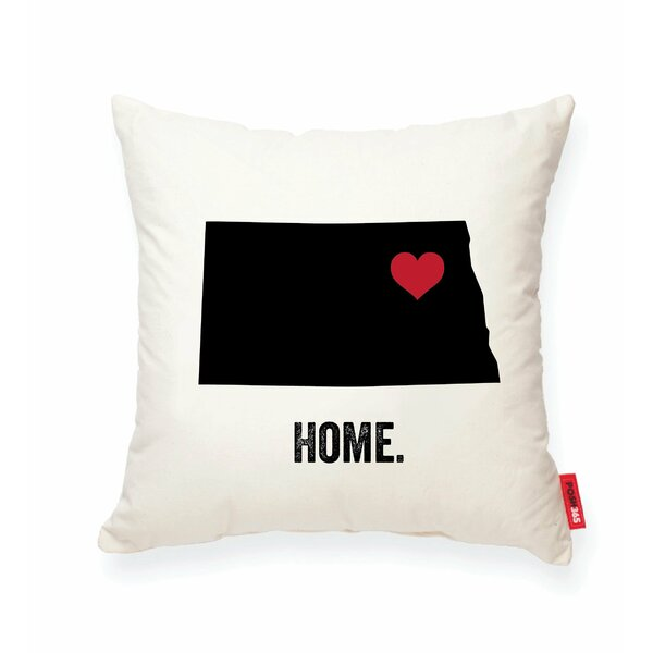 Pettry North Dakota Cotton Throw Pillow by Wrought Studio