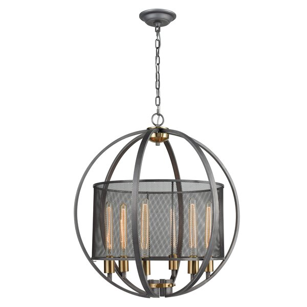 Kieffer 6 - Light Candle Style Globe Chandelier by Williston Forge Williston Forge