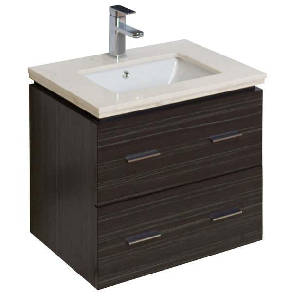 24 Wall-Mounted Single Bathroom Vanity Set by American Imaginations