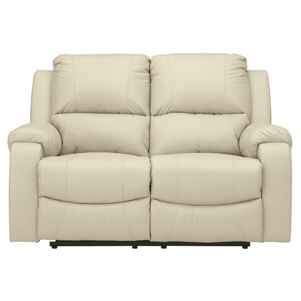 Reviews Pipkins Leather Reclining Loveseat by Red Barrel Studio